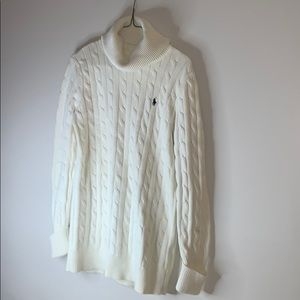 Off White Ralph Lauren Sport Cable Knit Sweater M